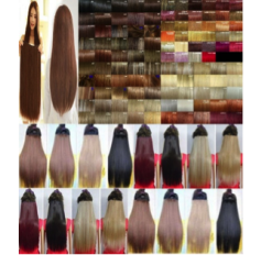 Clip in hair extensions Colour Chart