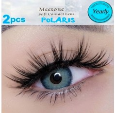 Three Tone Turquoise Coloured Contact Lenses Pair (365 Days)