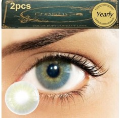 Pair QUARTZ Hidrocor Freshgo Contact Lens 3for2 on all Annual 12 MONTH wear lenses Natural Grey Coloured Contacts No limbal ring (2 lenses)