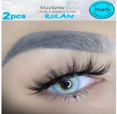 3 Tone Blue Contact Natural Lenses Yearly