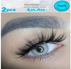 3 Tone Grey Contact Natural Lenses Yearly