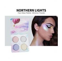 Mermaid Eyeshadow 4 Palette Iridescent Unicorn Highlighter Eyes Brow Cheeks Lip - 2 options