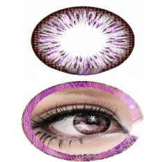 VIOLET Summer Doll BIG EYE 19.8mm Cosmetic Contact Lenses - 1 Year (Pair)