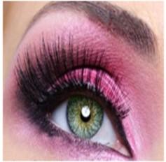 GREEN Coloured Contacts lenses lens Pair Aqua 3 Tone 1 Year Annual wear Natural