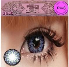 BLUE Long Wear Contact Lenses Big Eye Vanilla Shake 4 Tone Fashion Circle lens (2 lenses)