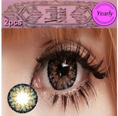 BROWN Long Wear Contact Lenses Big Eye Vanilla Shake 4 Tone Fashion Circle lens (2 lenses)