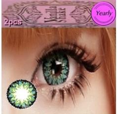 GREEN Long Wear Contact Lenses Big Eye Vanilla Shake 4 Tone Fashion Circle lens (2 lenses)