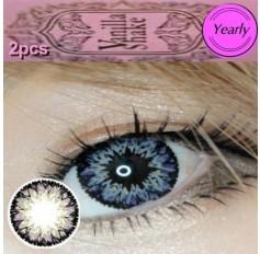 GREY Long Wear Contact Lenses Big Eye Vanilla Shake 4 Tone Fashion Circle lens (2 lenses)