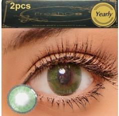 Green Verde 2 TONE Hidrocharme Hidrocor Freshgo Contact Lens 12 MONTH wear lenses Green Coloured Contacts (2 lenses)