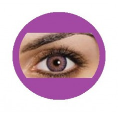 VIOLET Coloured Natural Looking Contact Lenses Freshtone Impressions 3 Tone - Monthly (Pair)