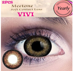BROWN Contact lenses 1 Year wear Big Eye Brown Circle fashion coloured Contact Lenses VIVI 3 Tone (2 lenses)