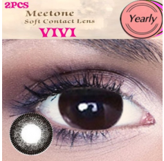 CHOCOLATE Contact lenses Yearly Chocolate Big Eye Circle Contact Lenses Lens VIVI 3 Tone (2 lenses)