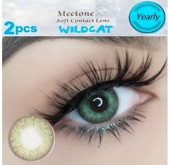 WILDCAT Natural Green Coloured Contacts Lens Pair (Annual Wear)