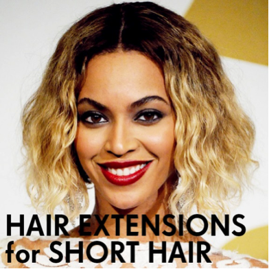 Fitting extensions in short hair pmusecretfo Images